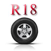 Шины б/у R18 зимние