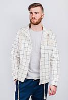 Куртка мужская в клетку, ветровка  AG-0003500 (Молочный)