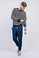Свитшот мужской свободный, полоска AG-0003495 (Черный)