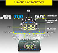 Многофункциональный проектор приборной панели на лобовое стекло HUD E-350