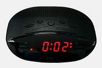 Часы электронные сетевые VST 908-1 с красной подсветкой, радиочасы для дома