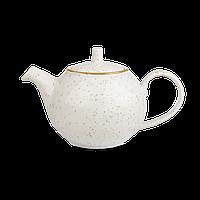 Чайник заварочный фарфоровый 425 мл. бежевый Stonecast White Speckle, Churchill