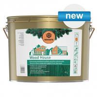 Лазурь для деревянных фасадов Эскаро Вуд Хауз износостойкая для наружных работ ведро 9 литров