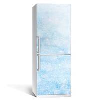 Интерьерная виниловая наклейка на холодильник Иней (пленка самоклеющаяся фотопечать)