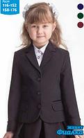 Модный пиджак Фиалка черного цвете для девочкиа