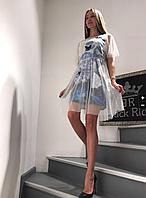 Платье Женское BRich Летнее с прозрачным верхом L-46