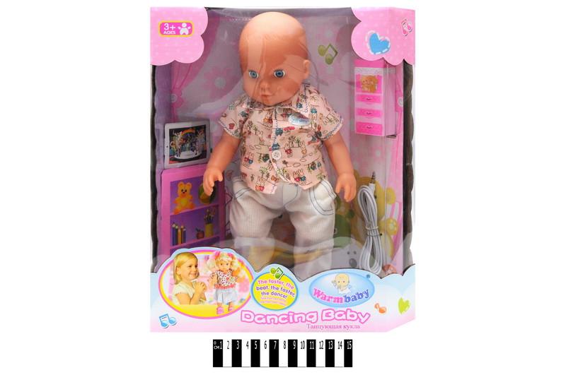 Кукла пупс музыкальная танцующая, RT05057-2, коробка р.30*14*36 см