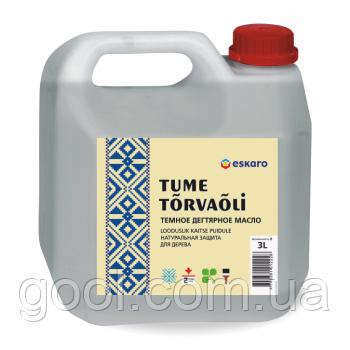 Тёмное дегтярное масло Эскаро канистра 5 литров