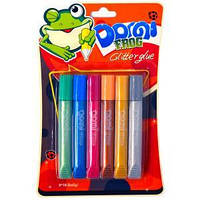 """Клей перламутровый 10.5мл """"Dorgi frog"""" 6 цветов"""