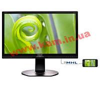 """Монитор TFT PHILIPS 23.8"""" 241P6EPJEB/00 IPS SoftBlue DP HDMI USB Pivot (241P6EPJEB/00)"""