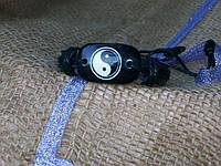 Кожаный браслет ЗНАКИ - ИНЬ-ЯНЬ  на руку, ручная работа