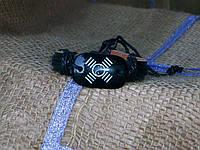 Стильный кожаный браслет ЗНАКИ - ИНЬ-ЯНЬ  на руку, ручная работа
