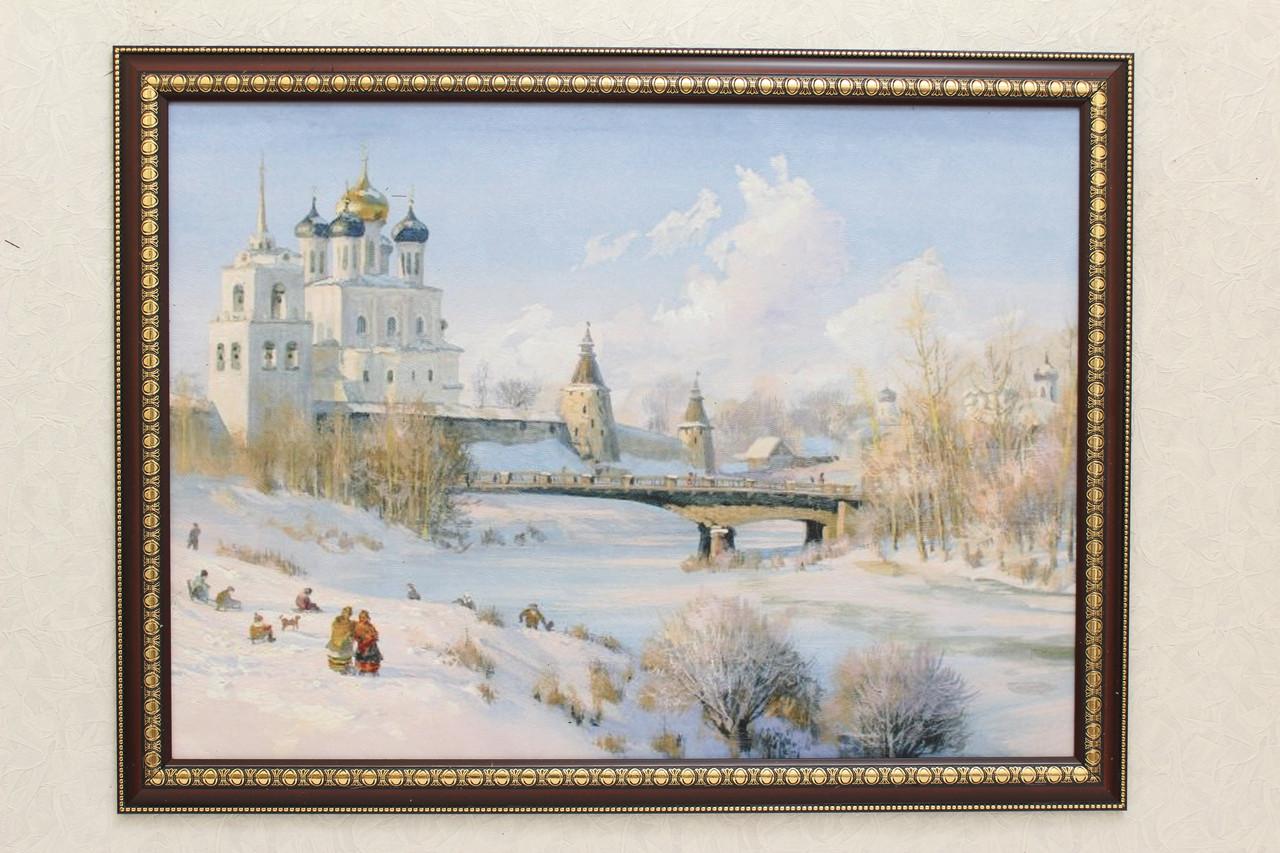 """Картина """"Храм у реки"""""""