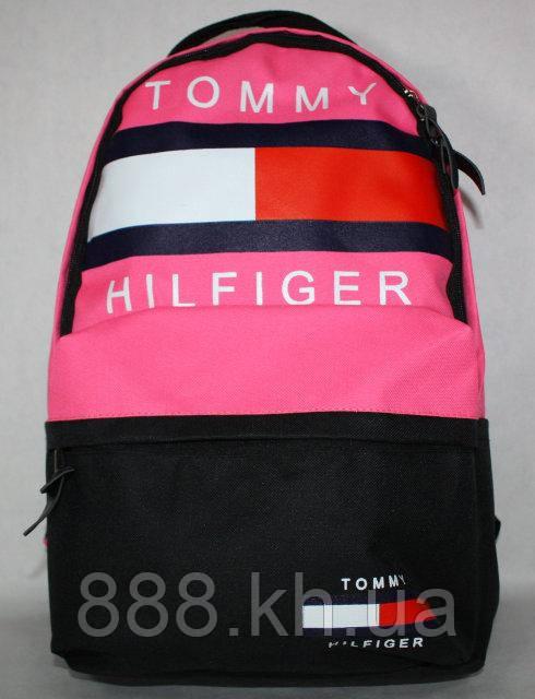 Городской рюкзак TOMMY HILFIGER розовый, портфель для девочки, рюкзак женский, рюкзак для девочки не оригинал, фото 1