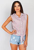 Рубашка женская с котиком на спинке AG-0003932 (Кирпично-белый)