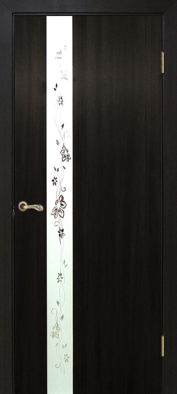 Двери Омис Зеркало 2 ПВХ венге
