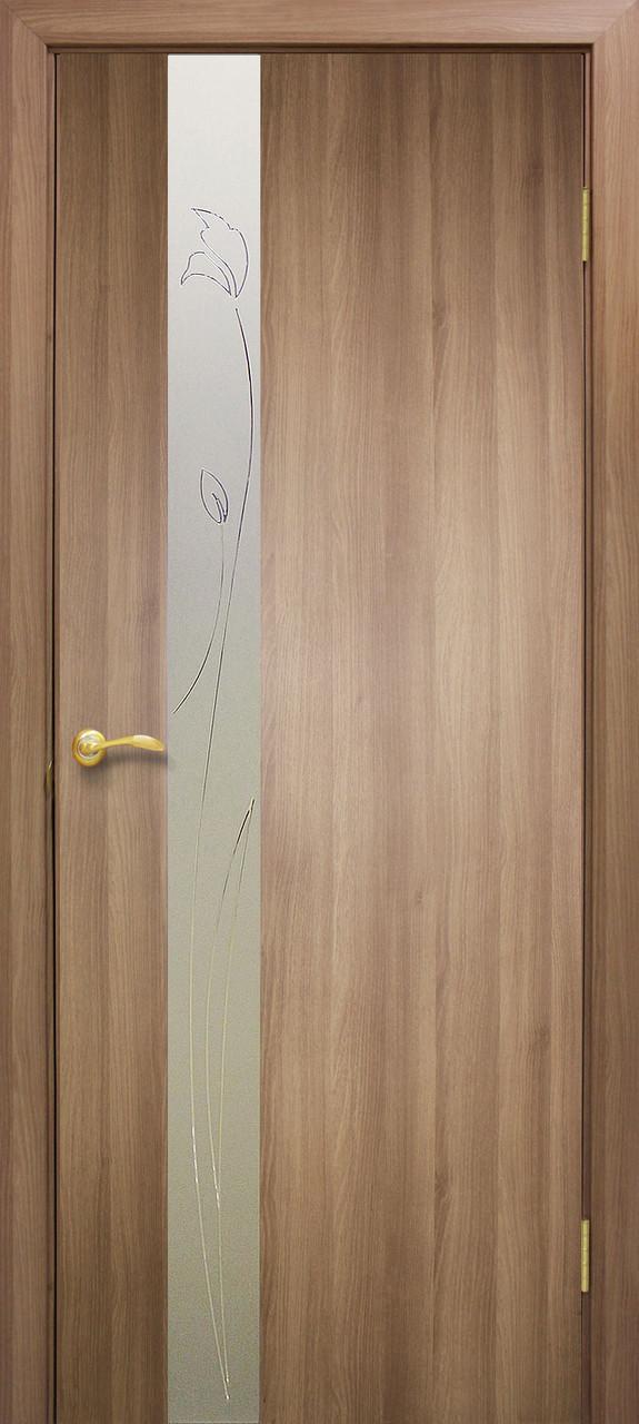 Двери Омис Зеркало 3 ПВХ дуб золотой