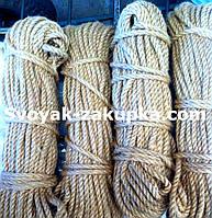 Веревка джутовая крученая 10мм/50м.
