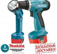 Аккумуляторная дрель-шуруповерт Makita 6261 DWPLE + фонарь