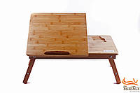 Столик для ноутбука бамбуковый с охлаждением, фото 1