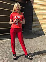 Костюм женский стильный футболка с накаткой и брюки M&I'm двунитка 2 цвета Dm566