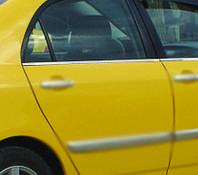 Комплект окантовки на стекла Тойота Королла 2002-2007 (4шт)