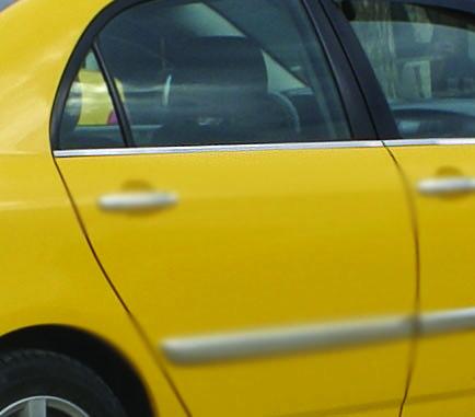 Комплект окантовки на стекла Тойота Королла 2002-2007 (4шт) - Автомагазин Баклажан - тюнинг для авто, запчасти, автохимия, автоаксессуары. в Киеве