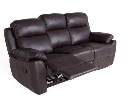 """Трехместный диван в коже с реклайнером """"ALABAMA BIS"""" (198см)"""