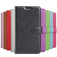 Кожаный чехол книжка Lichee на Samsung Galaxy J3 2017 (9 цветов)