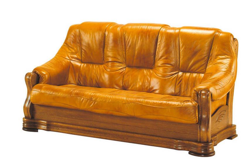 """Раскладной 3-х местный кожаный диван """"BOZENA"""" (190см)"""