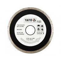 Круг отрезной алмазный для мокрой резки YATO, 115x2,1x5,3x22,2мм