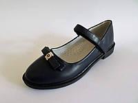 Туфли школьные для девочек, с застёжкой липучкой