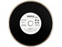 Диск отрезной алмазный для мокрой резки YATO, 230x2,7x5,3x22,2мм [10/40]