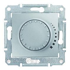 Диммер, светорегулятор поворотно - нажимной индуктивный 25-325 Вт проходной Schneider Sedna алюминий