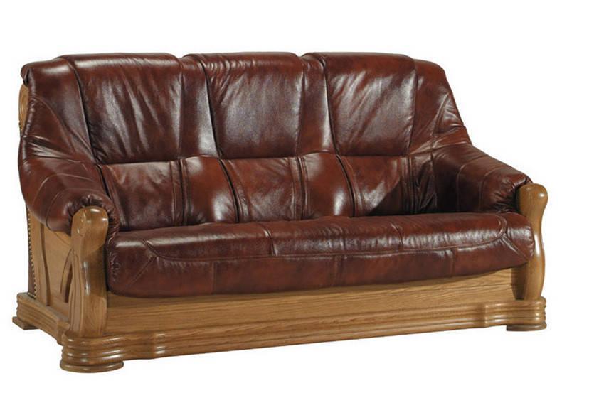 """Трехместный раскладной кожаный диван """"FRYDERYK"""" I, II (195см)"""
