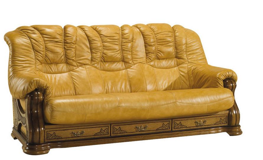 """Тримісний диван в шкірі """"CHEVERNY"""" (208см)"""
