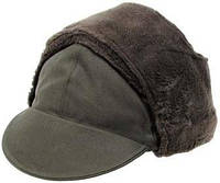 [как новая] Зимняя шапка Бундесвера р.57 тёмно-зелёная 610035B