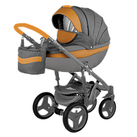 Детская коляска 2 в 1 Adamex Monte Deluxe Carbon