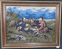 """Картина з бісера """"Мисливці на привалі"""""""