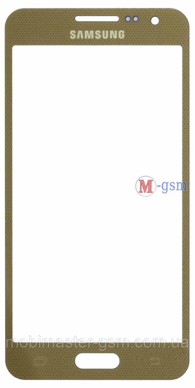 Корпусное стекло на  Samsung A300F, A300FU, A300H золотистое