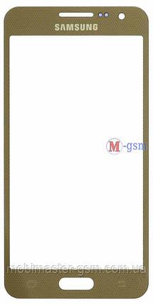 Корпусное стекло на  Samsung A300F, A300FU, A300H золотистое, фото 2
