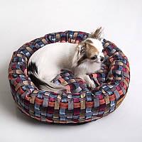 Dog 3D Wicky - Хитрый (мягкий круглый лежак со съемной подушкой для собак)