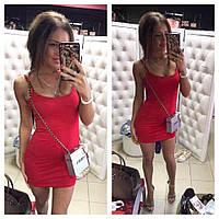 Летнее мини платье красного цвета