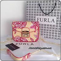 Клатч, сумка Фурла Метрополис цвет flowers, копия