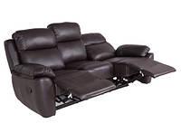 """Кожаный диван с реклайнером """"ALABAMA BIS-0326"""" (198см)"""