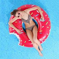 ХИТ! Надувной круг Пончик, диаметр - 100 см. Есть разные цвета, фото 1