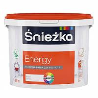 Матовая латексная Sniezka Energy - для интерьерных работ
