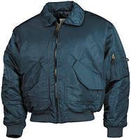 Куртка пилота ВВС США (XL) US CWU Flight Jacket MFH синего цвета