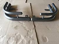 Защита заднего бампера уголки двойные крашенные D60-42 на Уаз Патриот молотковые