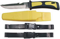 Нож для дайвинга жёлто-чёрный Fox Outdoor 45402